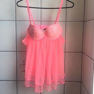 Victoria's Secret hot pink 34B bra lingerie top